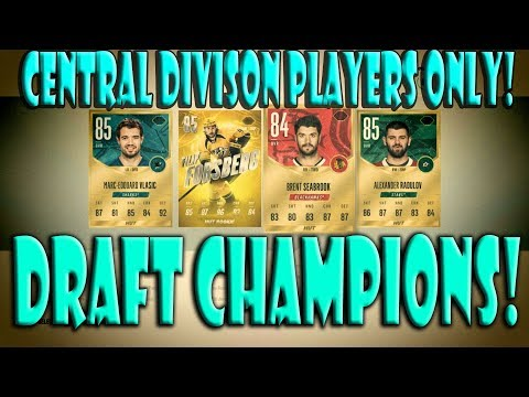 NHL 18 HUT Central Division Players ONLY Draft Champions!
