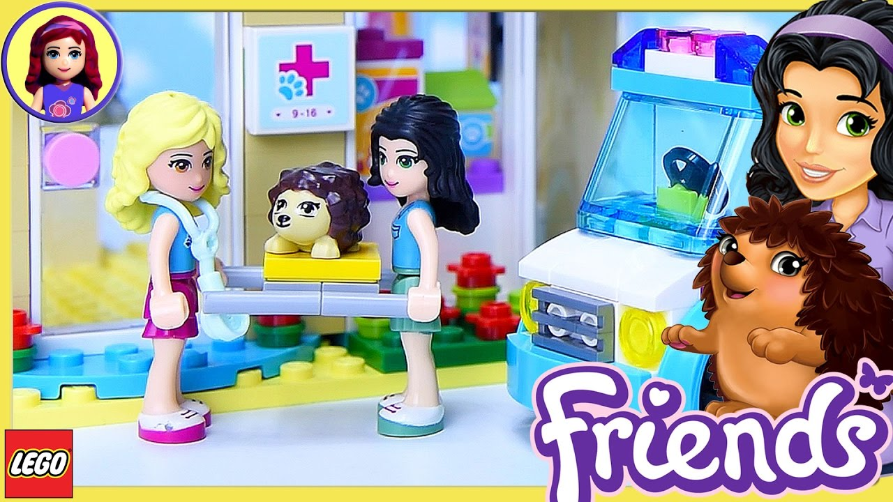 Lego Friends Vet Ambulance Hurt Hedgehog Rescue Build Silly Play