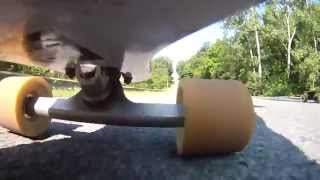 Crazy Guys Longboarding Down Massive Hill Almost get hit by a car