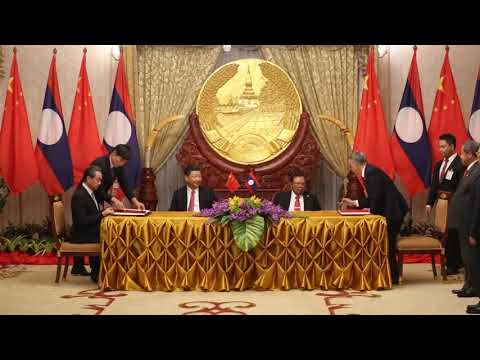 Laos, China agree to deepen ties, ink 17 deals.
