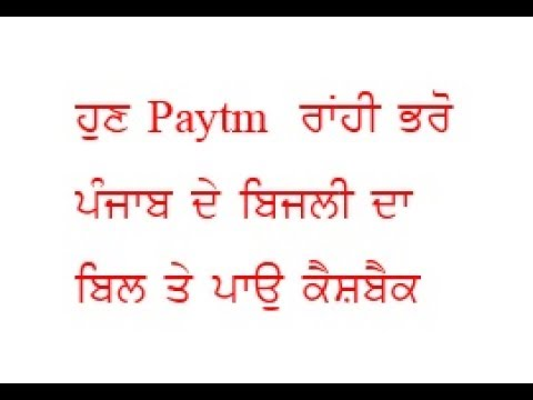 Pay punjab electricity bill by paytm and earn cashback