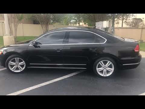 2012 BLACK VOLKSWAGEN PASSAT SE (1VWBN7A3XCC) with an 2.0L engine, Automatic transmission, located at 6921 40th St N, Pinellas Park, FL, 33781, (727) 366-8136, 27.834944, -82.687653 - Photo #0