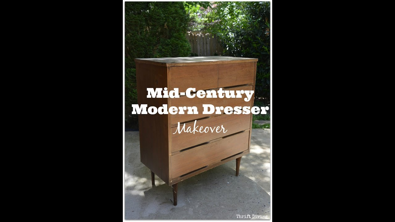 Mid Century Modern Dresser Makeover Furniture Makeover