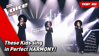 Perfectly HARMONIZED Performances in The Voice Kids! 😇   Top 10