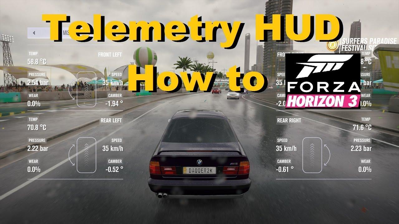 Forza Horizon 3 telemetry how to turn on