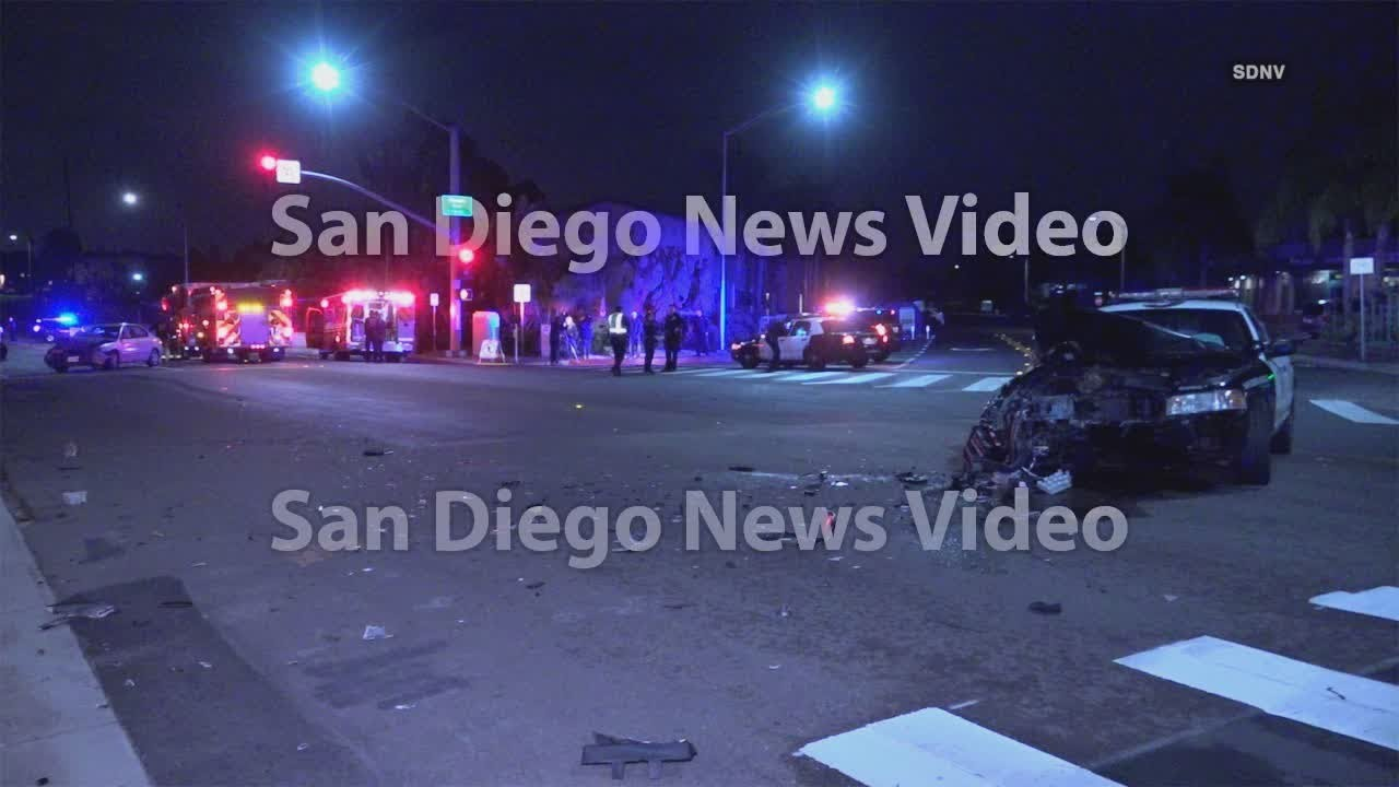 Suspect causes several crashes including 3 patrol cars during police chase  in Point Loma Heights