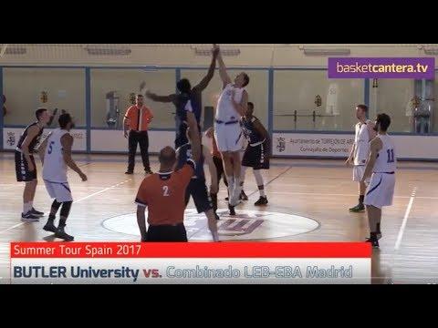 BUTLER University NCAA vs. Combinado MADRID EBA-LEB. Torrejón (BasketCantera.TV)