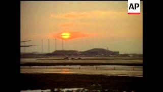 AIRCRAFT AT NIGHT, DUSK AND AIRPORT GENERAL VIEWS - NO SOUND - COLOUR