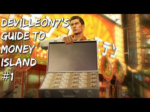 Yakuza 0 - Money Island Walkthrough #1: First Commentary and CP Points!