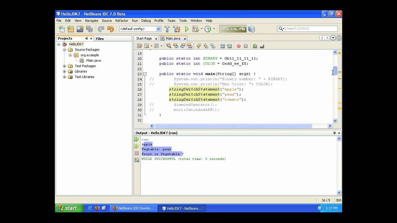 JDK 7 Project Coin Features In NetBeans IDE 70 Beta