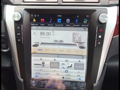 Штатная магнитола для Toyota Camry V50/55 Tesla Style