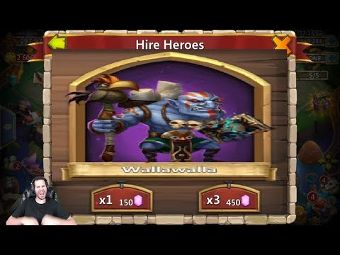 Finally Got WALLA WALLA Rolling 100,000 Gems Castle Clash