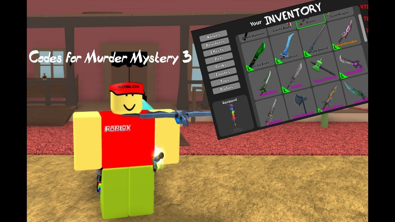 Code Murder Mystery 3 Roblox