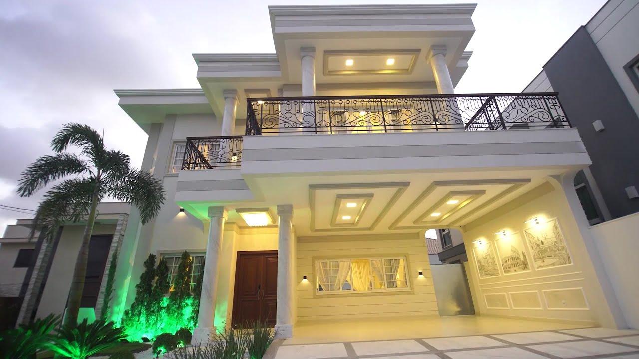 5 Contoh Rumah Klasik Modern 2 Lantai Super Mewah - YouTube