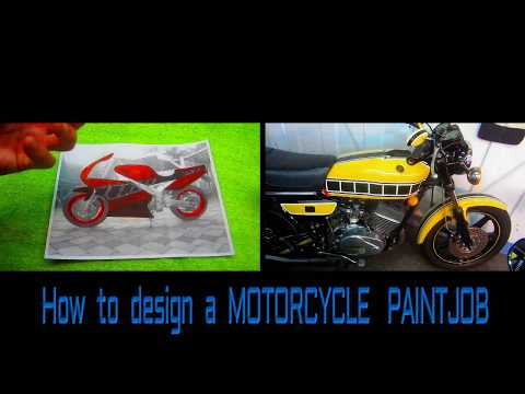 HOW TO DESIGN A MOTORCYCLE PAINT JOB pt 1,BASIC RULES.