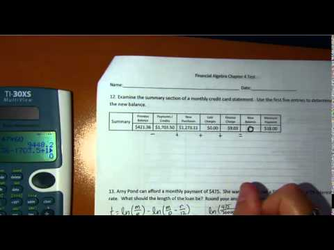 Financial algebra consumer credit test overview