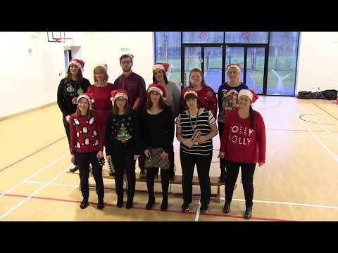 Toronto Primary School staff sing Christmas Carols