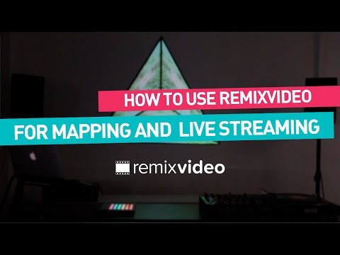 Remixvideo tutorial I Syphon output for mapping & streaming