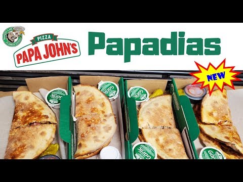 NEW Papa John's Papadias Sandwich Pizza | Memphis Tennessee