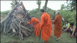 Буддийские похороны. Sipandon, Лаос 2/9, сохжение тела. Кремации в Лаосе.