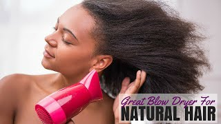 Great Blow Dryer for Natural Hair - Karmin Ionic Dryer Review