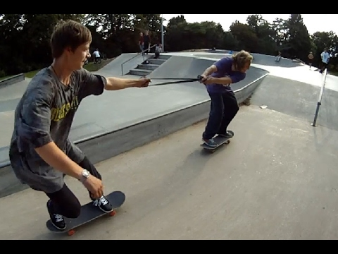 INNER TUBE SKATEBOARD FUNNY DOUBLES D.A. and HARRY HUGHES