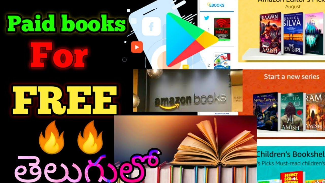How to download paid books for Free Amazon Flipkart Googleplaystore etc    || In Telugu