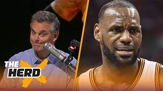 LeBron James silent on tweet about leaving Cavs, will join Lonzo and LA Lakers | THE HERD