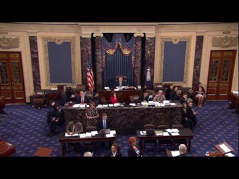 Majority Leader Mitch McConnell announces to senate Pete Domenici Passing