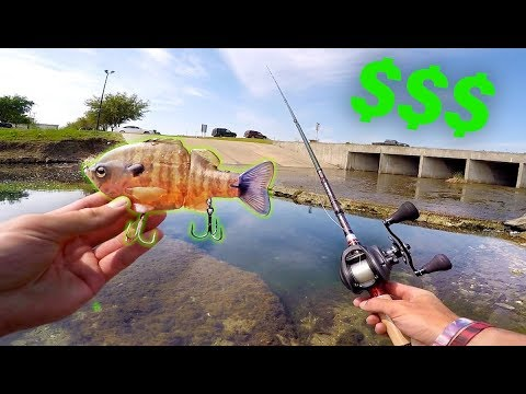 Why This Lure is WORTH $110 -- City Pond Fishing with BIG Baits!