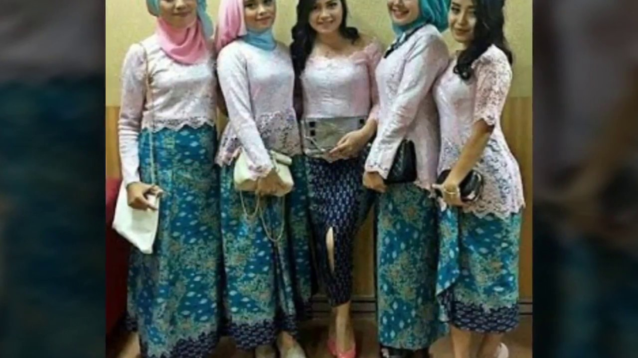 Wohnzimmermbel Modern Modell : Model baju muslim kebaya modern kombinasi brokat untuk