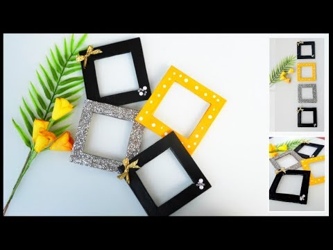 DIY Easy Photo Frame using cardboard | Mini Photo frames wall decor at home