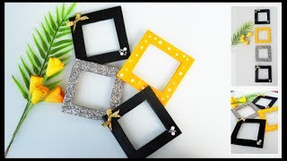 Diy Easy Photo Frame Using Cardboard | Mini Photo Frames Wall Decor At Home