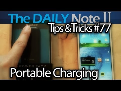 Samsung Galaxy Note 2 Tips & Tricks Ep. 77: Emergency Portable Backup Power W/Verbatim AA Power Pack
