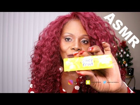 ASMR CHEWING GUM  Try On HAUL | CHRISTMAS