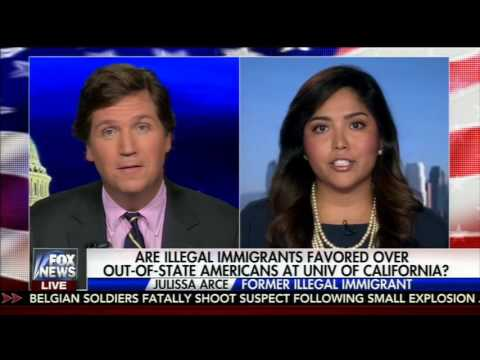 Interview with Tucker Carlson Discussing In-State-Tuition for Undocumented Students