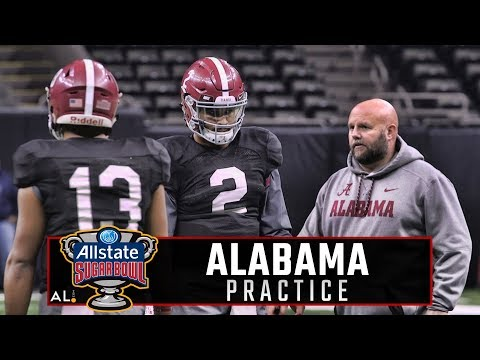 Watch Jalen Hurts, Tua Tagovailoa & Alabama offensive standouts practice at Mercedes-Benz Superdome