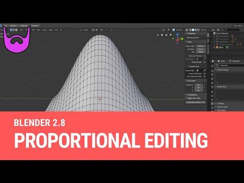 Proportional Editing [Blender 2.8]