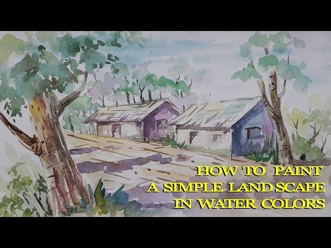 How to paint | simple land scape in water colors