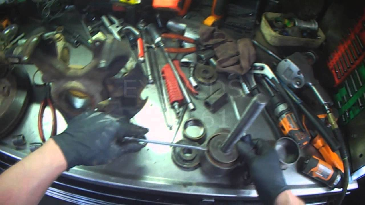 Vw A4 Front Wheel Bearing Replacement Youtube