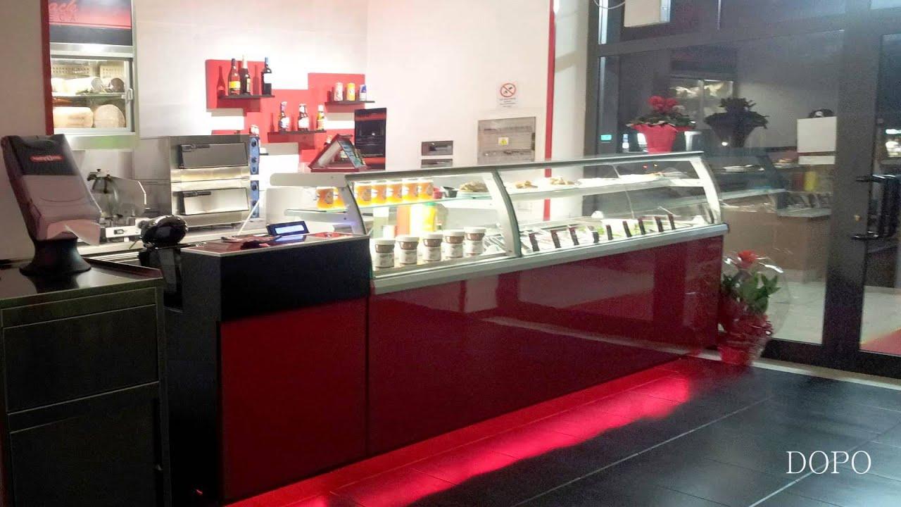 ... baguetteria yogurteria Ekip arredamenti per negozi Roma V1 - YouTube