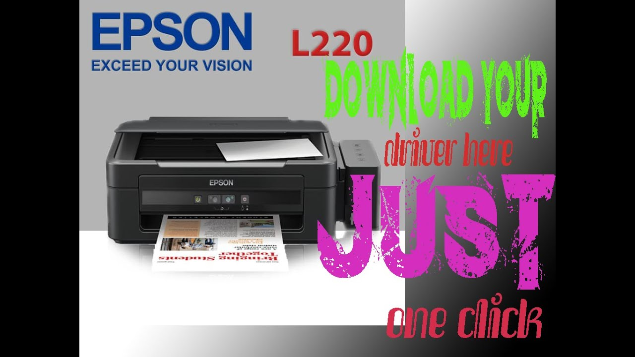 Download Driver Epson L220 Free For Windows 7 8 10 32 64 Bit Youtube