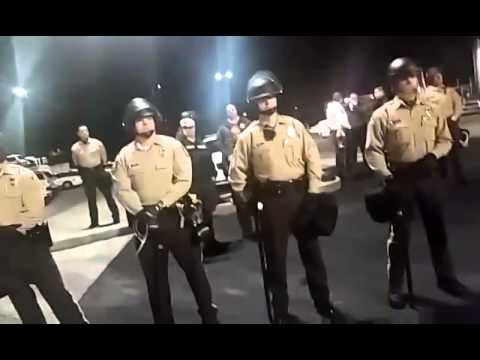 FergusonOctober STL Police Officer Steps Out and Speaks with Protesters and Shake their Hands