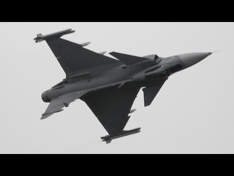 【4K】 RIAT 2016 JAS-39C Gripen Swedish Air Force