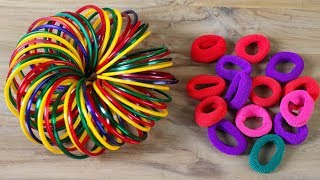 ????Amazing Way To Reuse Hair Rubber Bands ???? Best Out Of Craft Ideas ????