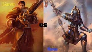 You shall not farm! - Garen VS Nasus (League of Legends Commentary)