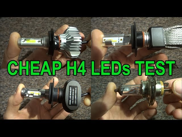 Upgrade light in your motorcycle! Cheap H4 LEDs test from Aliexpress.