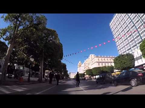 Tunisie Centre ville de Tunis, Gopro / Tunisia Tunis City center filmed by Gopro