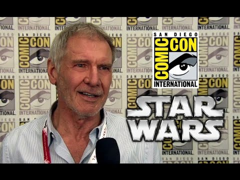 Star Wars: The Force Awakens - Harrison Ford INTERVIEW (HD) Comic-Con 2015