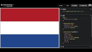 How to Draw the Netherlands flag in HTML and CSS3